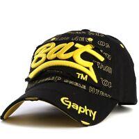 Casquette de baseball bat gaphy réglable NEUf noir jaune