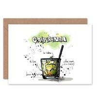Caipirinha Cocktail Drink Blank Greeting Card With Envelope