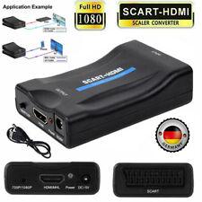 Scart zu auf HDMI 1080P HD TV Konverter Wandler Scaler Converter Adapter Neu DE