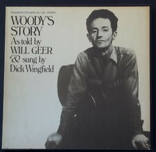 WOODY'S STORY AS TOLD BY WILL GEER & SUNG BY DICK WINGFIELD 1973 FOLKWAYS REC US