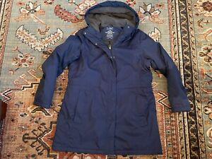 LL Bean Women's Winter Warmer Jacket Large Petite w/ Lined Hood 271140