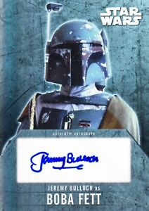 Jeremy Bulloch Signed Boba Fett 2016 Topps Star Wars Evolution Autograph Card