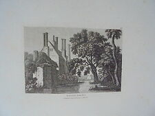 1783 Nether Hall netherhall Essex Incisione FRANCIS GROSE
