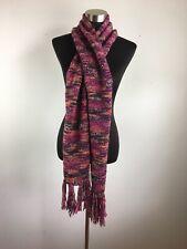 4c98e6d94 Gap Womens Scarf Pink Orange Purple Marl Fringe Trim Wool Blend