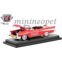 M2 MACHINES 50300 RW03 COCA COLA COKE 1957 CHEVROLET BEL AIR HARD TOP 1/24 RED