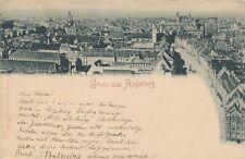 Nr,30747 PK   Gruss aus Augsburg gel.1898  Bayern