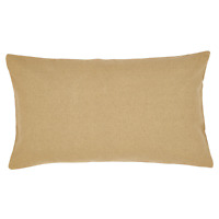 BURLAP NATURAL Luxury King Sham Primitive Tan/Khaki Cotton Farmhouse