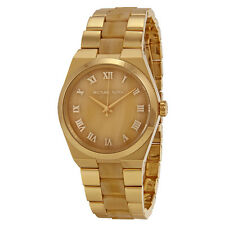 Michael Kors Channing Horn Brown- Gold Dial Quartz Ladies Watch MK6152