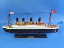 "Wooden RMS Titanic 14"" Titanic Model Ship - Wood Assembled Titanic Cruise"