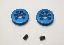Polea aluminio 8 mm  eje 3mm color azul 2u. MSC