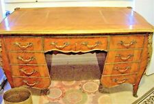 french lxv style bombay shape bronze mounts kingwood  lady's desk, circa 1910