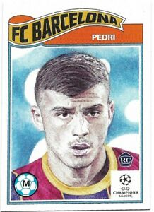 TOPPS UCL LIVING SET PEDRI CARD NO 243