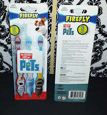 (2) Firefly The Secret Life of Pets Toothbrush 3 pack Children's SOFT Bristles