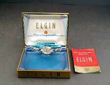 ELGIN CALIBER 702 WHITE GOLD FILLED WOMEN'S WATCH IN BOX  # WS624