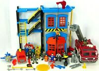 Rescue Heroes Imaginext Fireman Lot Firetruck Firefighters Playset Figures
