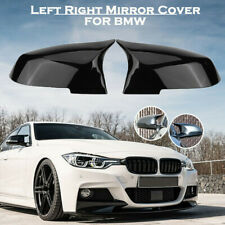 Pair Glossy Black Rearview Mirror Cover Caps For BMW F20 F21 F22 F30 F32 F36 X1