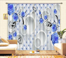 Blue Enchantress 3D Blockout Photo Curtain Print Curtains Fabric Kids Window