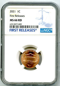 2021 P LINCOLN UNION SHIELD PENNY NGC MS66 FIRST RELEASES CENT RARE BLUE LABEL