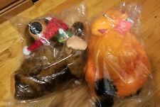 Dog Toys NEW  --  X2 - Party Pets  Bear  ---  Petlou Monkey