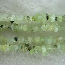 "5-8mm Green Garnet Beads Chip Loose Gemstone Beads for Jewelry Making Strand 35"""