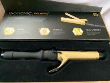 "Bio Ionic Gold Pro 24K Ceramic Curling Iron 1.25"" New Free Shipping"