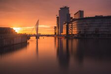 Manchester Sunset Photograph Salford Quays