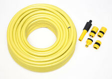 New 50m Pro Hosepipe Set Anti Kink Professional Garden Hose With Connectors