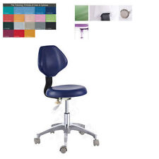 Dental Mobile Chair Surgical Doctor's Nurse Stool With Backrest PU Leather QY90E