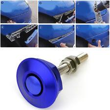 Blue Quick Release Car Push Button Hood Pin Lock Low Profile Click Latch Clip