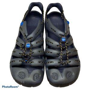 MION GSR Rubber Water Hiking Sandals Shoes Steel Blue Men Size 11 No Insoles