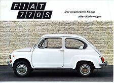 Fiat 770 S brochure Prospekt, 1971 (German text)