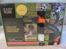Easy Home Crochet Woodland Creatures Kit To Make Hedgehog Deer Fox Step by Step