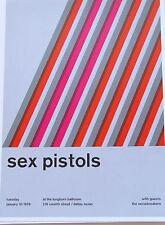 Sex Pistols Mini-Poster Concert Reprint  Dallas TX 13X10 Framable Artwork
