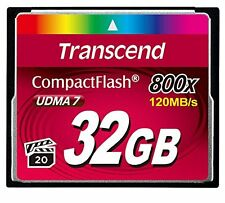 Transcend 32 Gb Compactflash [cf] Card - 1 Card (ts32gcf800)