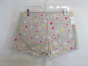 "Gap Gray Pink Polka Dot Shorts 3.5"" Inseam Size 4 Above Knee Flat Front Casual"