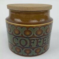 Vintage Hornsea Pottery Bronte Mid-Century Large Storage Jar Labelled Coffee VGC
