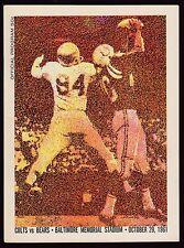 1961 Baltimore Colts v Chicago Bears Program 10/29/61 Ex 19156 Unitas 2 TDs