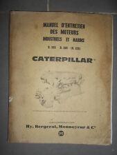 Caterpillar moteur D330 D333 (D320) 1962 : Notice d'entretien