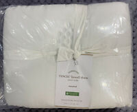 Pottery Barn Tencel Lyocell White Sham, Standard, Free Shipping
