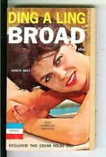 DING A LING BROAD by Shannon, France #F12 sleaze gga pulp vintage pb FOLD OUT