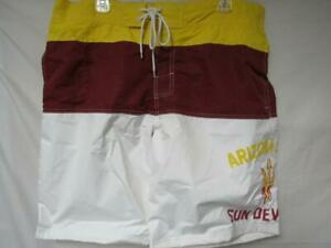 Arizona State Sun Devils Mens X-Large Embroidered Swim Trunks Board Shorts C1 78 XL