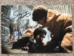 The Goonies Sean Astin & Jonathan Ke Quan Hand Signed 12x8 Photo. Rare Item.