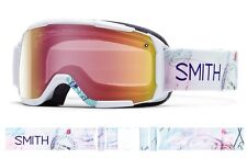 MASCHERA DA SCI SNOWBOARD SMITH SHOWCASE OTG BIANCO S1 RED MIRROR Ski Goggle