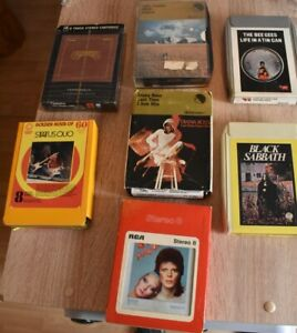 7.8 track cartridge tapes. Music Mainly Rock.