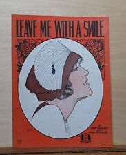 Leave Me With A Smile - 1921 sheet music - woman's portrait cover