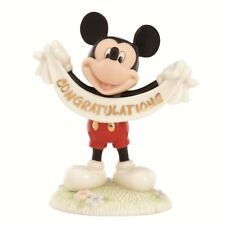 Disney Lenox Gift Congratulations Mickey Mouse Figurine  NEW in Box