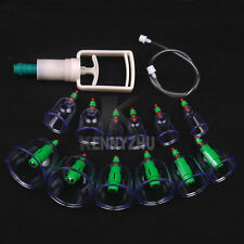 12 Cups+ 6pcs Magnetic Needle + Extension Tube + Vaccum Pump Chinese Cupping