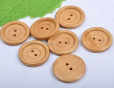 20pcs wheat color Wood Buttons 30MM 2holes Fit Sewing Scrapbook DIY Findings