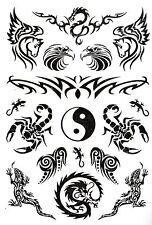Temporay Körper Schmuck Tattoo Einmal Tatoo Tätowierung Bodyart Yin und Yang