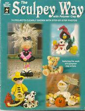 The Sculpey Way Craft Book People Dog Cat Bear Kids Clown Animals Pilgrim Bird